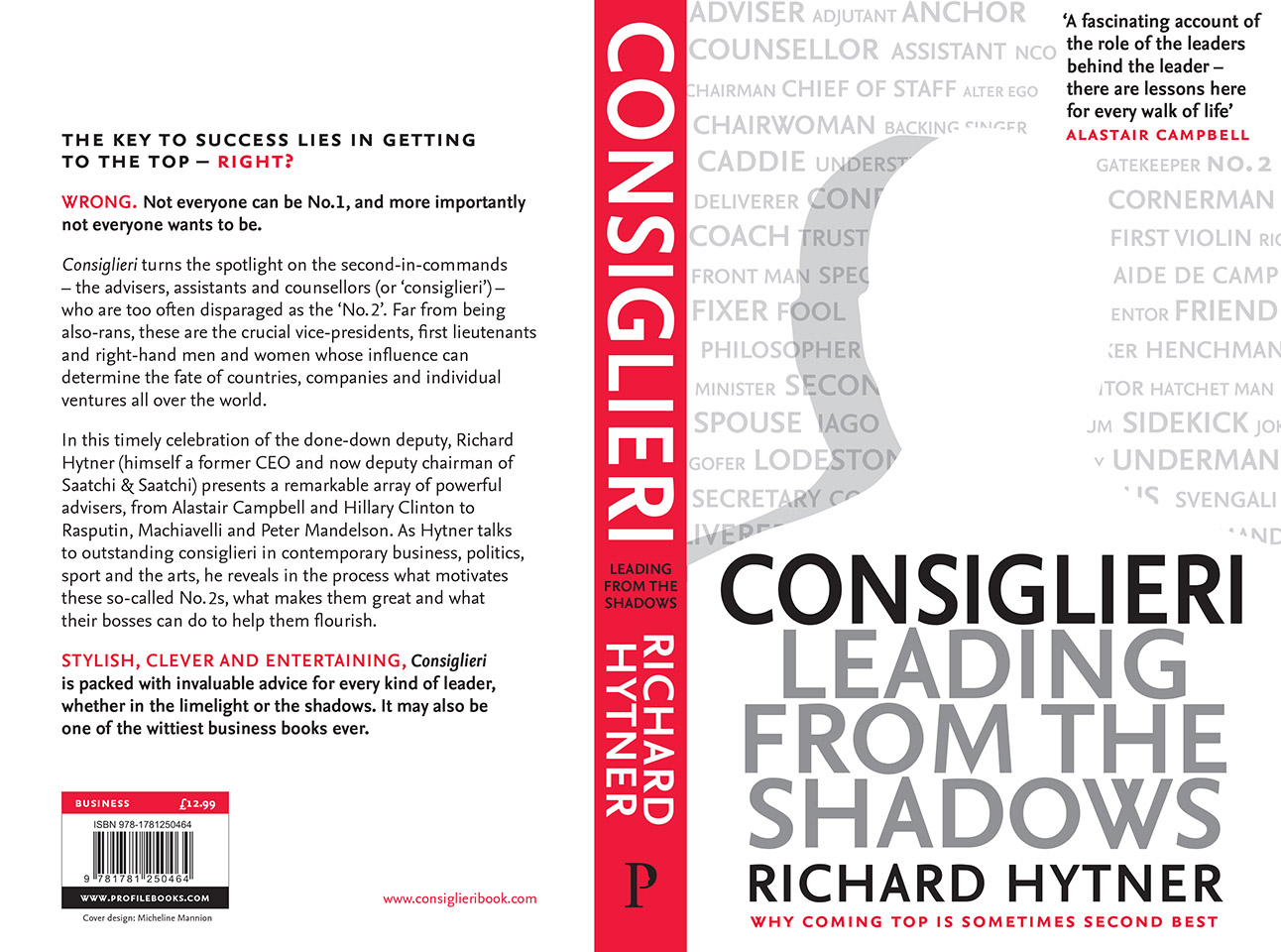 """""""Intelligent, entertaining and useful"""" – The Times reviews <em>Consiglieri</em>"""